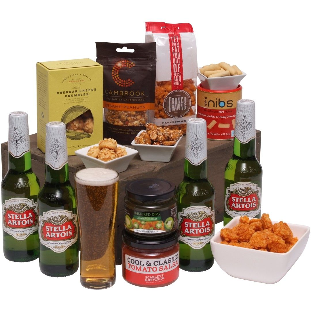Beers And Bites Gift Basket