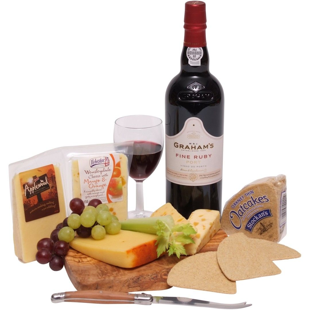 Cheese Hampers - Port & Cheese Selection