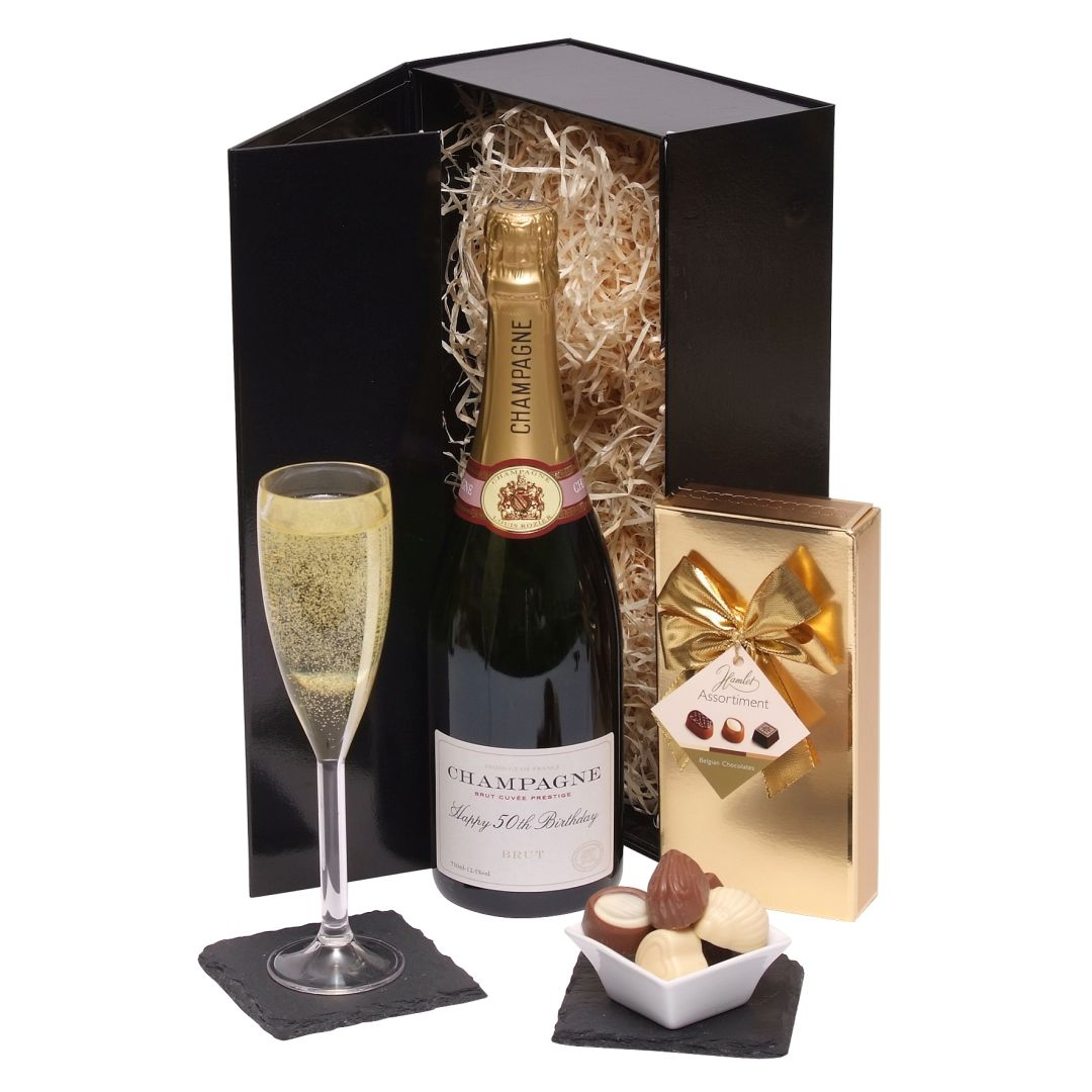 Hampers Happy 50th Birthday Champagne Gift