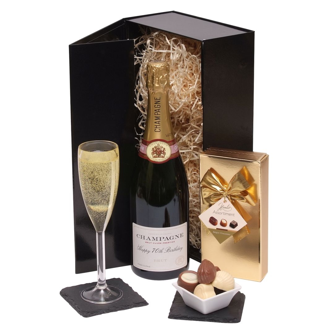 Hampers Happy 70th Birthday Champagne Gift