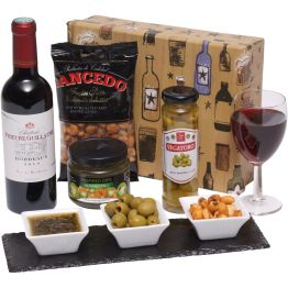Wine and Snacks Gift Box