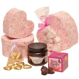 Valentines Tower Of Hearts Hamper