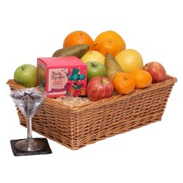 Fruit Basket With Chocolates Hamper