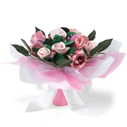 Pink Hand Tied Posy Hamper
