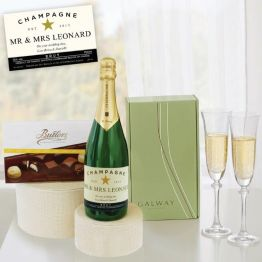 Personalised - Fizz, Flutes & Finest Chocs Hamper