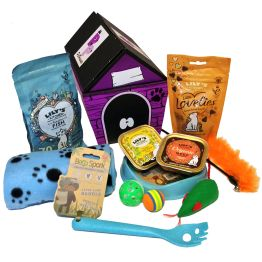 Blue Kitty Treats Hamper Hamper