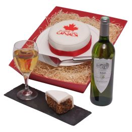 Canadian Cake & Wine Hamper Hamper