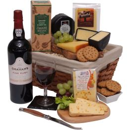 Luxury Port & Cheese Hamper Hamper