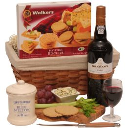 Luxury Port & Blue Stilton Hamper