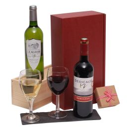 French Two Bottle Wine Selection Hamper