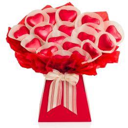 Chocolate Hearts Bouquet  Hamper