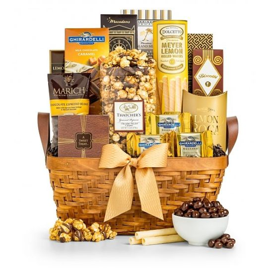 The Golden Gift Basket Hamper