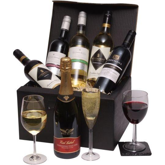 Six Bottle Australian Mixed Wine Gift Hamper