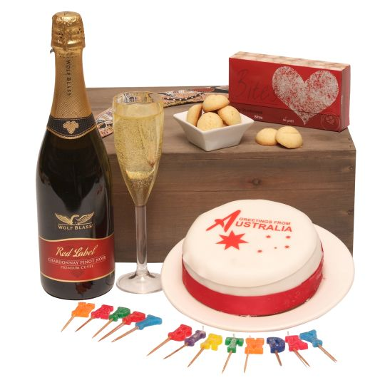 OZ Birthday Greetings To The UK Hamper
