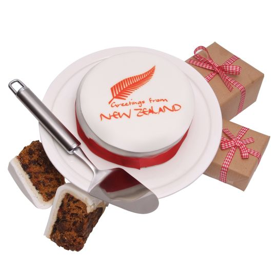New Zealand Greetings Cake  Hamper