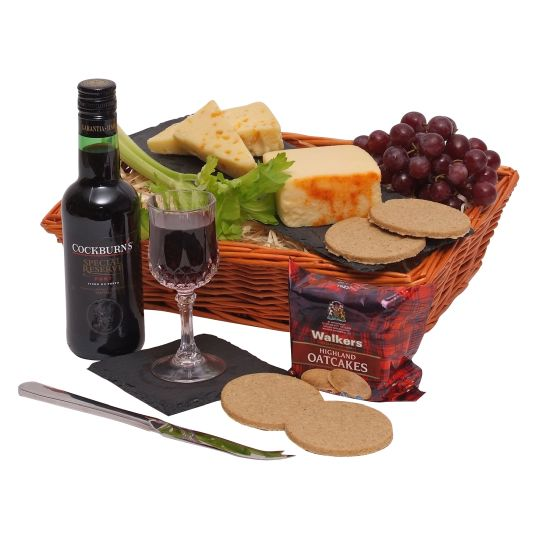 Quarter Port & Cheese Hamper Hamper