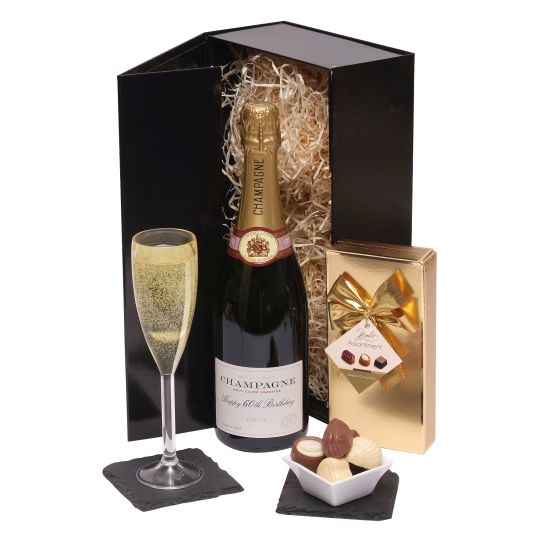 Happy 60th Birthday Champagne Gift Hamper