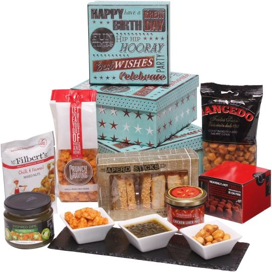 The Birthday Boys Spicy Gift Tower Hamper
