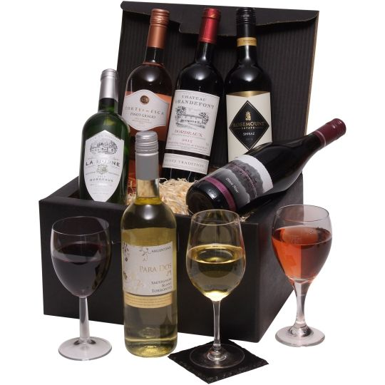 Six Bottle Wine Selection Hamper