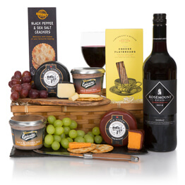 Christmas Wine, Cheese & Pate Hamper Hamper