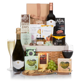 Luxury Food & Wine Gift Basket Hamper