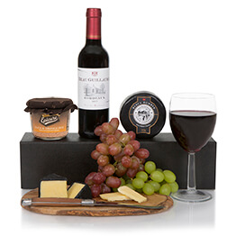 Wine Gift Box With Cheese & Pate Hamper