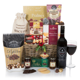 Luxury Golden Gift Basket  Hamper