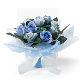 Blue Hand Tied Posy Hamper