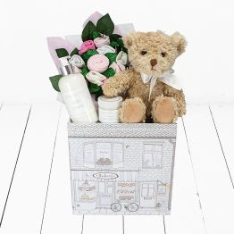 Bertie Bear Welcome Baby Girl Hamper Hamper