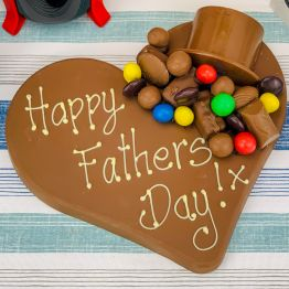 Father's Day Choccy Heart Hamper