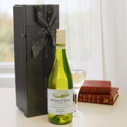 Personalised White Wine in a Box Hamper