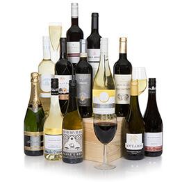 Grand Twelve Bottle Selection With Champagne Hamper