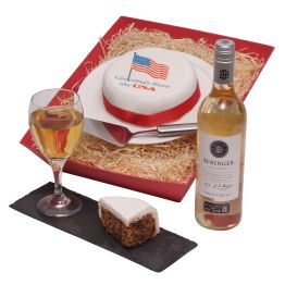 US Cake And Wine Hamper