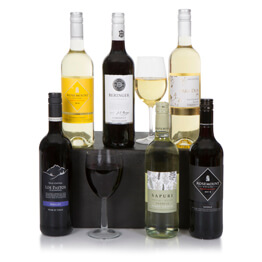 Premium Six Bottle Christmas Wine Selection Hamper