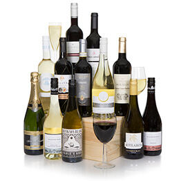 Grand Twelve Bottle Wine Selection With Champagne Hamper