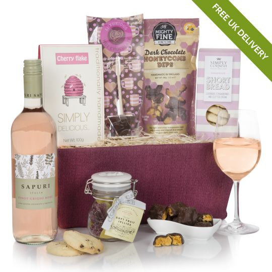 Pretty in pink gift hamper birthday hampers for her for Luxury gifts for mom
