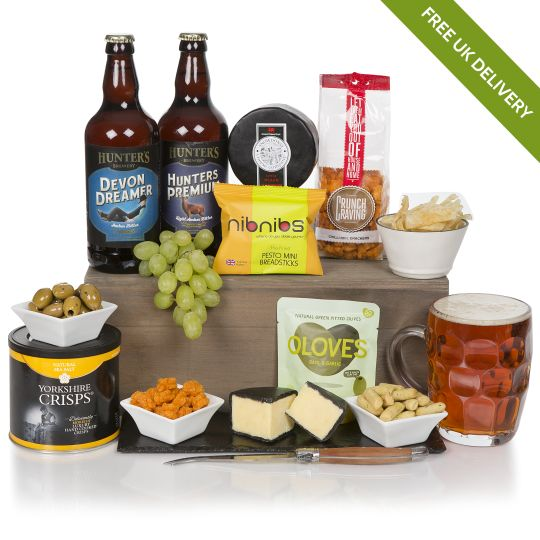 Craft Beer, Cheese and Snacks Hamper Hamper