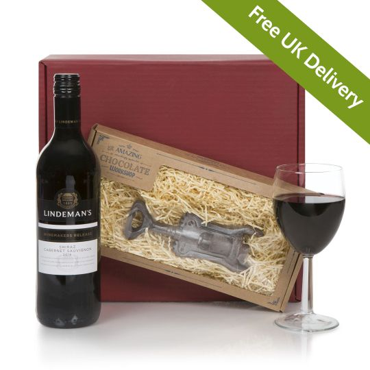 Wine With Chocolate Corkscrew Hamper