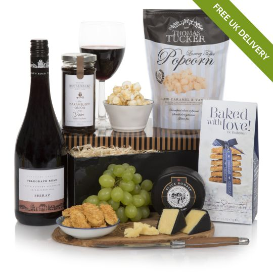 Night in for him hamper luxury hampers for men uk for Luxury gift ideas for him