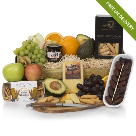 Buy alcohol free christmas hampers non alcoholic luxury gift fruit cheese bounty negle