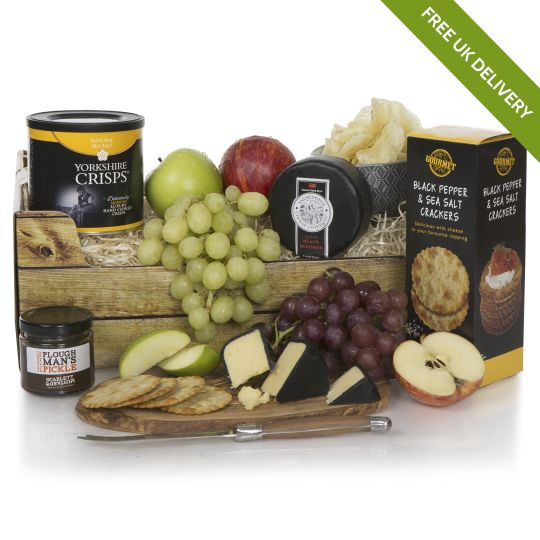 Buy alcohol free hampers free uk delivery non alcoholic luxury ploughmans gourmet hamper negle Images