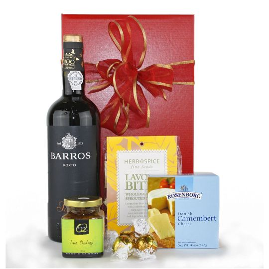 Festive Port and Cheese Hamper