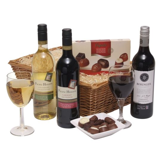 Californian Wine Trio With Chocs Hamper