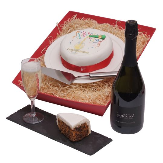 Congratulations Cake & Bubbly Hamper
