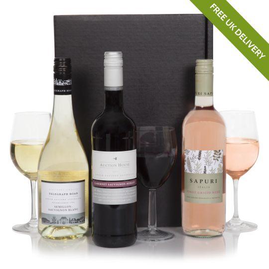 Australian Three Bottle Wine Pack Hamper