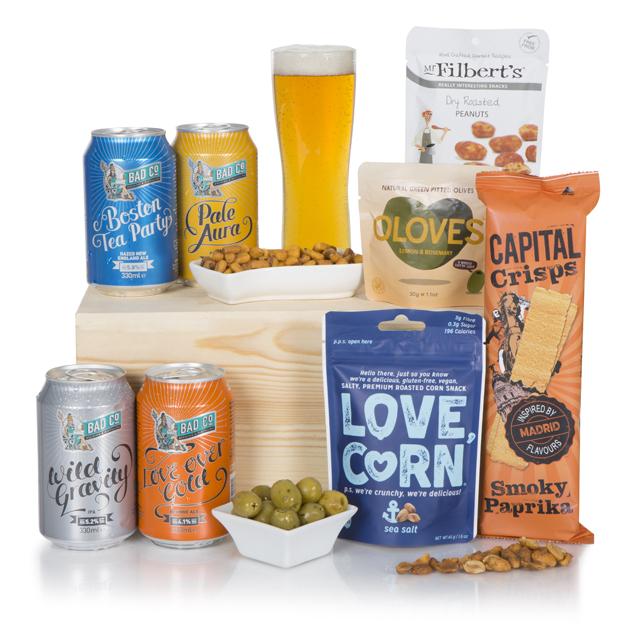 British Beer Hamper In Wooden Crate Hamper