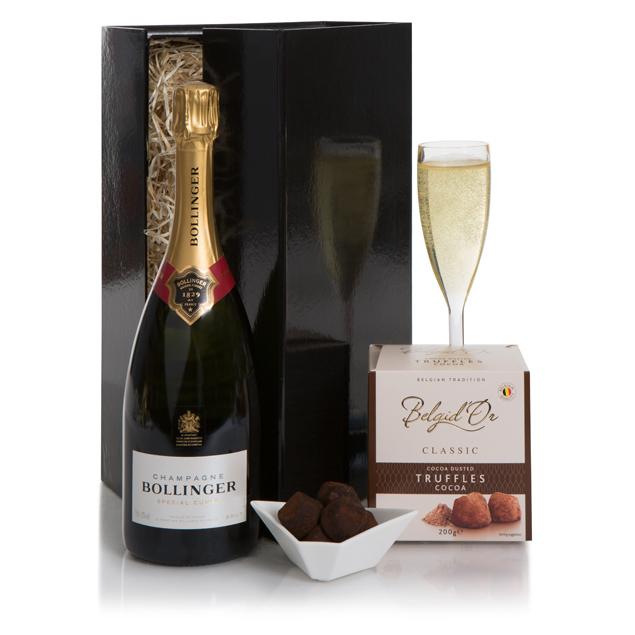 Bollinger Champagne & Chocolate Truffles Hamper