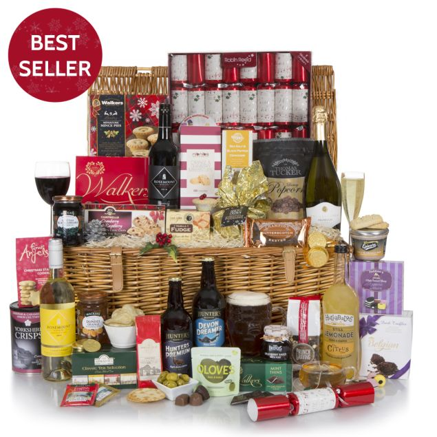 Christmas Hamper Basket.Luxury Family Christmas Hamper