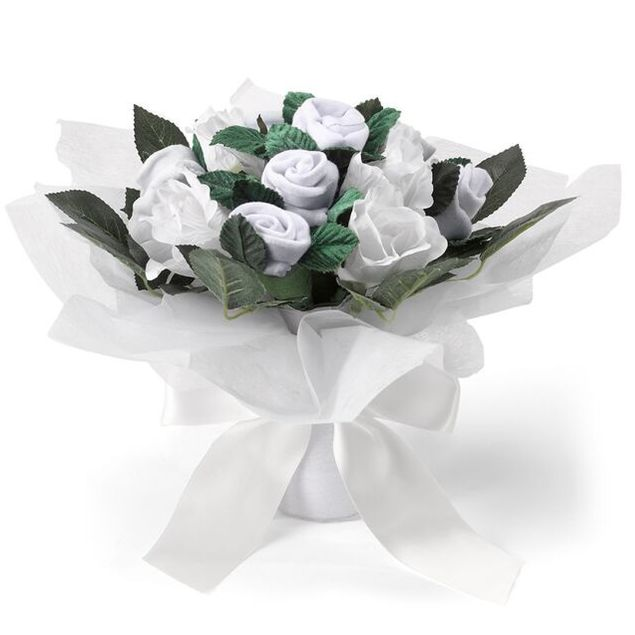 White Hand Tied Posy Hamper