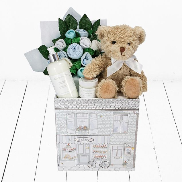 Bertie Bear Welcome Baby Boy Hamper Hamper